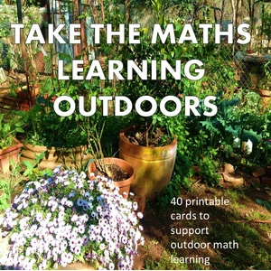 photograph regarding Printable Task Cards called Maths outside the house - 40 printable process playing cards for outside maths