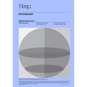 VCE Mid Year Revision Notes for Psychology Units 3&4
